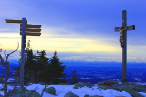 Lusen Nationalpark Bayerischer Wald Winter Wandern