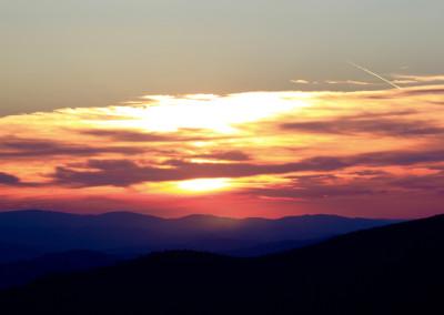 Abendsonne Bayerischer Wald Lusen