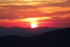 Sonnenuntergang Bayerischer Wald Lusen Wandern