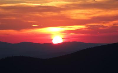 Sonnenuntergang auf dem Lusen