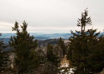 Winterwandern zum Rachel im Bayerischen Wald