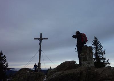 Wandern Rachel im Winter Bayerischer Wald