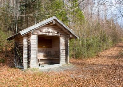 Schutzhütte Sagwasserklause Bayerischer Wald
