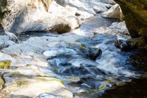 Wandern im Bayerischen Wald in der Steinklamm