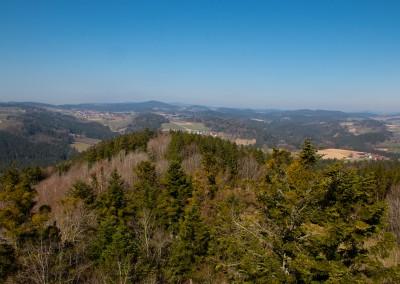 Ausblick Kadernberg Bayerischer Wald