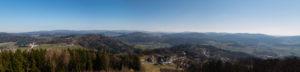 Panoramablick Kadernberg Schönberg Bayerischer Wald