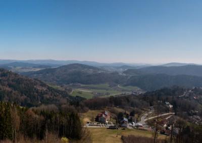 Panoramablick Kadernberg Bayerischer Wald