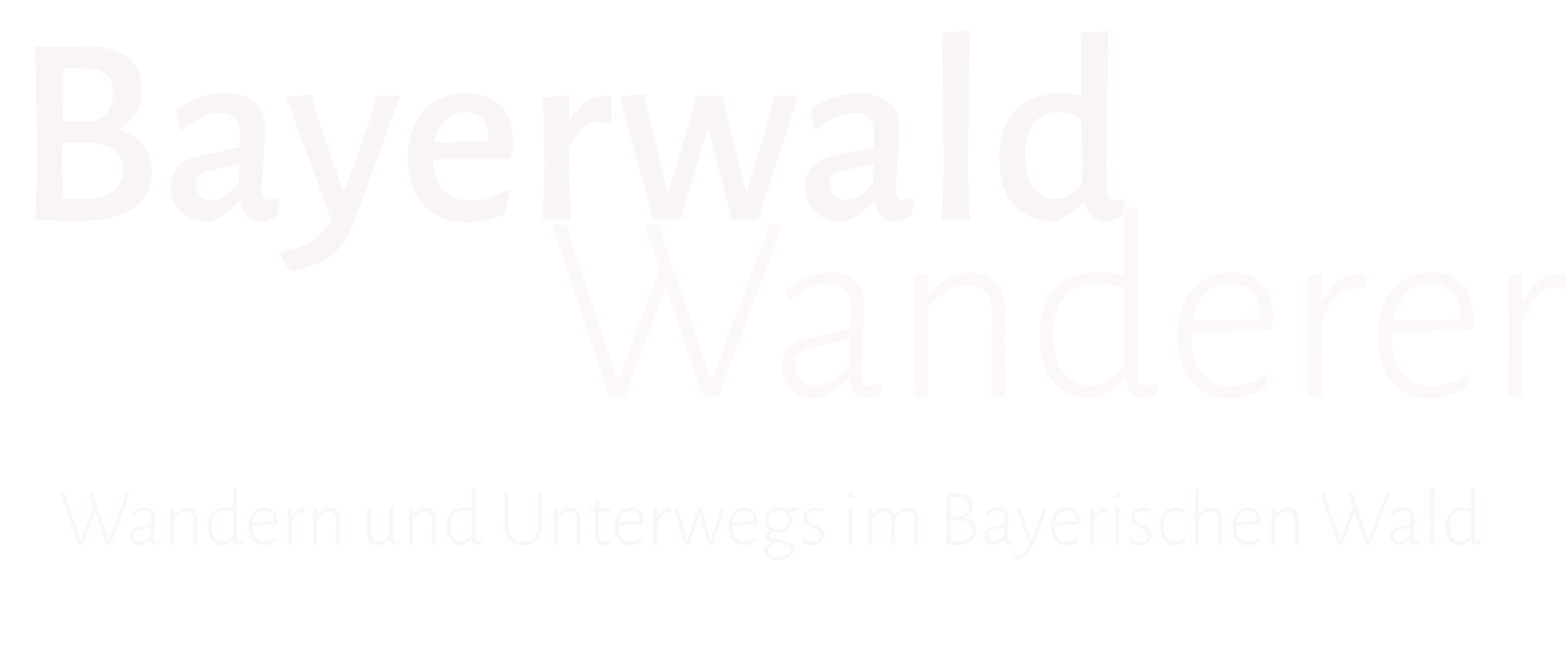 Bayerwald-Wanderer